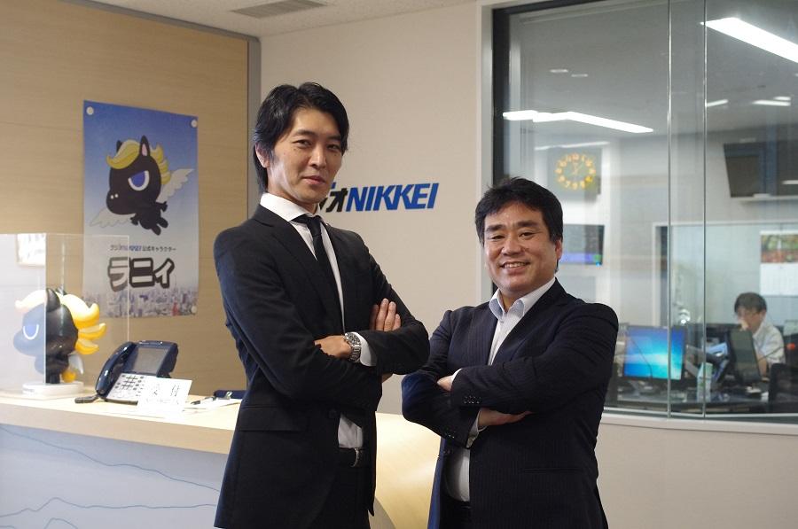 インターワークス取締役鳴澤と藤本アナリスト